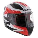 LS2 FF353 Rapid Grid gloss white red_