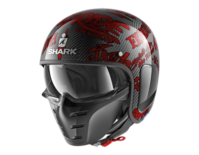 Shark S-Drak Carbon Freestyle Cup red