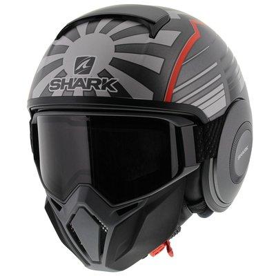 Shark Street Drak Zarco Malaysia GP Matt Anthracite Red