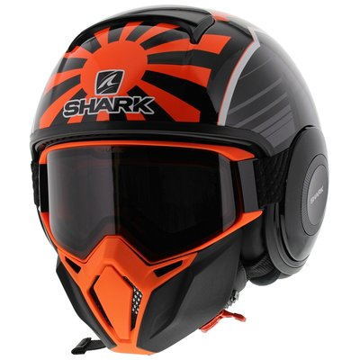Shark Street Drak Zarco Malaysia GP Matt Black Orange